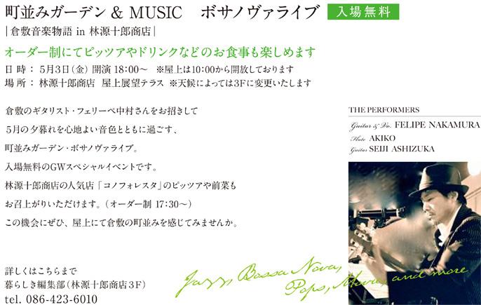 倉敷のギタリスト・フェリーペ中村さん